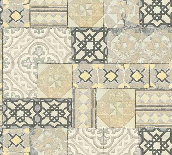 Tapete Marokkanische Kacheln creme gold Metallic 34300-2 online kaufen