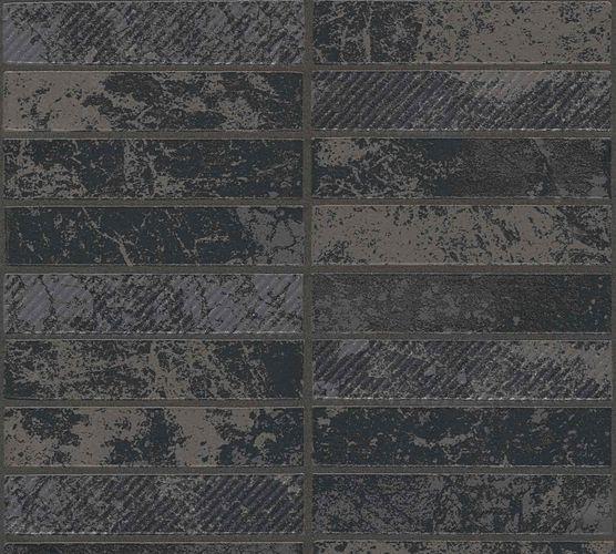 Vinyl Wallpaper ApronTiles black silver Glitter 34818-4 online kaufen