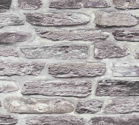 Non-Woven Wallpaper Shale Wall grey brown 36478-1 online kaufen