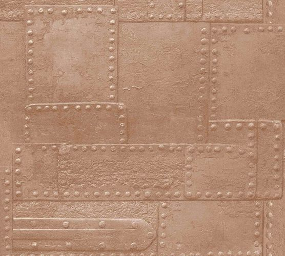 Non-Woven Wallpaper Metalwall copper red Metallic 36494-2
