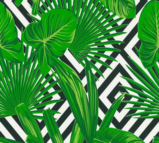 Vliestapete Grafik Blätter grün schwarz weiß 36811-2 online kaufen