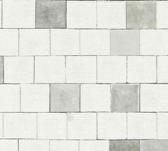 Non-Woven Wallpaper Stonewall Blocks grey white 36855-1 online kaufen