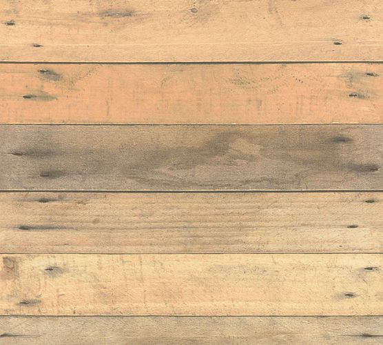 Non-Woven Wallpaper Wood Panel Used Look brown 36870-1 online kaufen