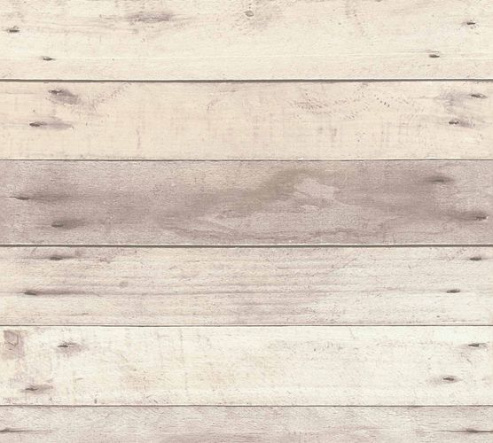 Non-Woven Wallpaper Wood Panel Used cream brown 36870-2 online kaufen