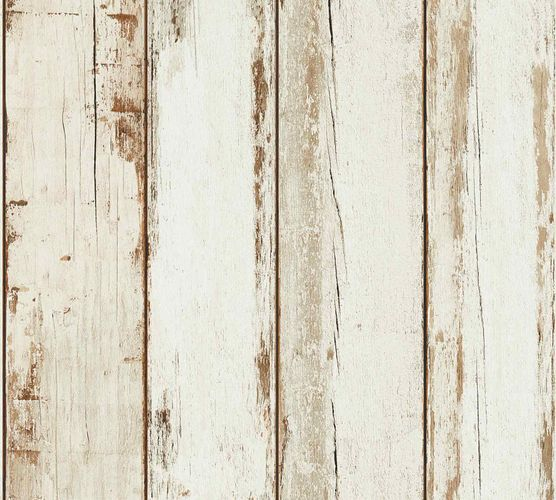 Non-Woven Wallpaper Wood panel Vintage cream 36893-1 online kaufen