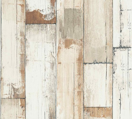 Non-Woven Wallpaper Wood Used Western beige brown 36894-1 online kaufen