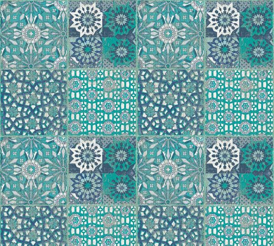 Non-Woven Wallpaper Moroccan Tiles turquoise 36895-3 online kaufen