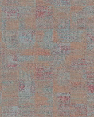 Non-woven Wallpaper Tiles Abstract orange red blue 31216 online kaufen