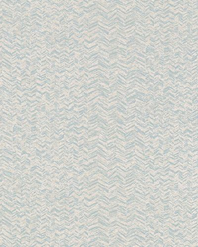 Non-woven Wallpaper Herringbone Pattern blue beige white 31243