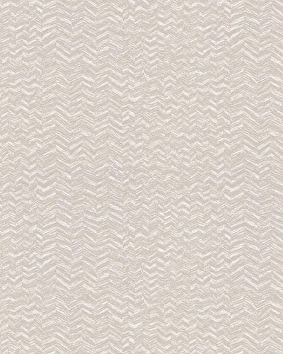 Non-woven Wallpaper Herringbone Pattern taupe white 31245