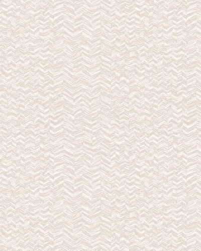 Non-woven Wallpaper Herringbone Pattern beige white 31237