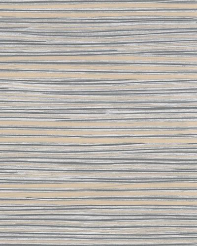Non-woven Wallpaper Stripes grey gold Metallic 31212
