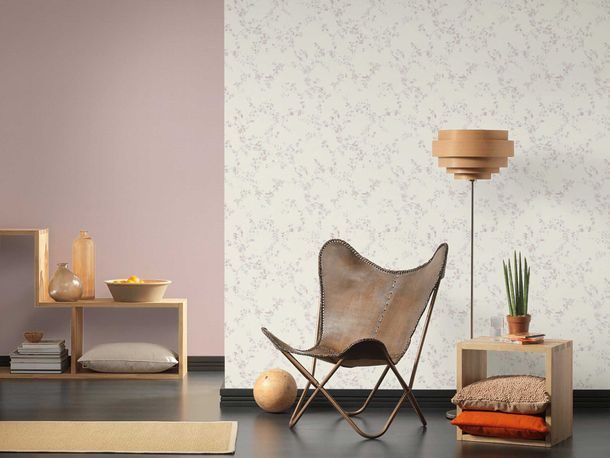 Non-Woven Wallpaper Chesterfield pink silver Glitter 36897-1 online kaufen