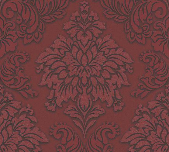 Non-Woven Wallpaper Baroque bordeaux black Glitter 36898-3 online kaufen