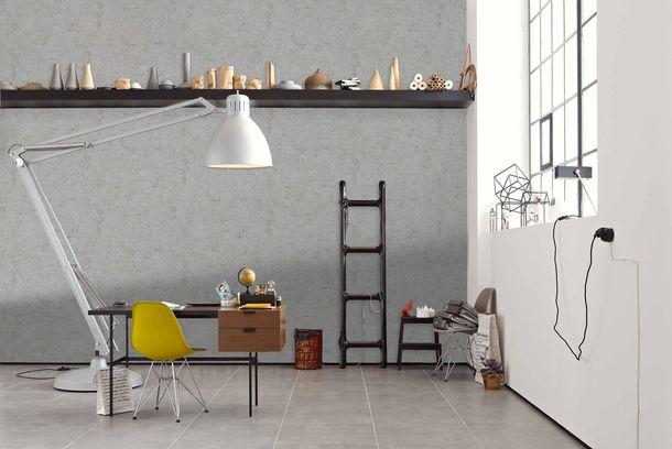 Non-Woven Wallpaper Concrete Vintage grey Gloss 36911-2 online kaufen