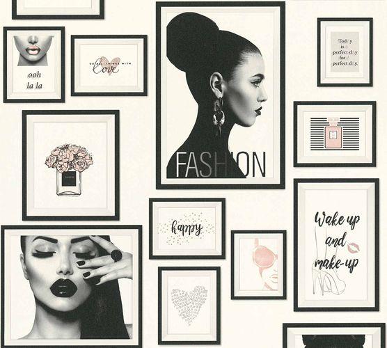 Non-Woven Wallpaper Collage Fashion cream black Gloss 36918-1