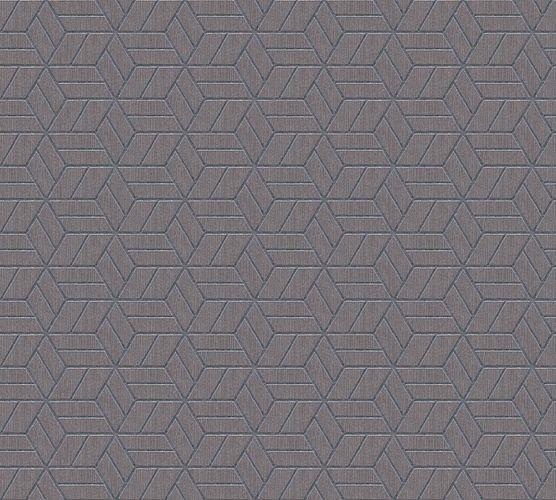 Non-Woven Wallpaper Graphic Cubes grey brown Glitter 36920-2 online kaufen