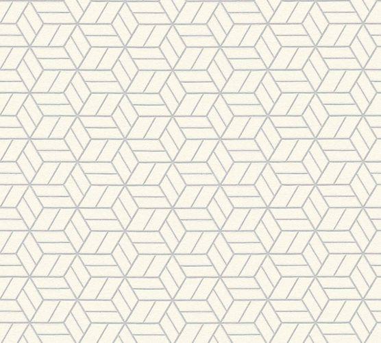 Non-Woven Wallpaper Graphic Cubes cream silver Glitter 36920-3 online kaufen
