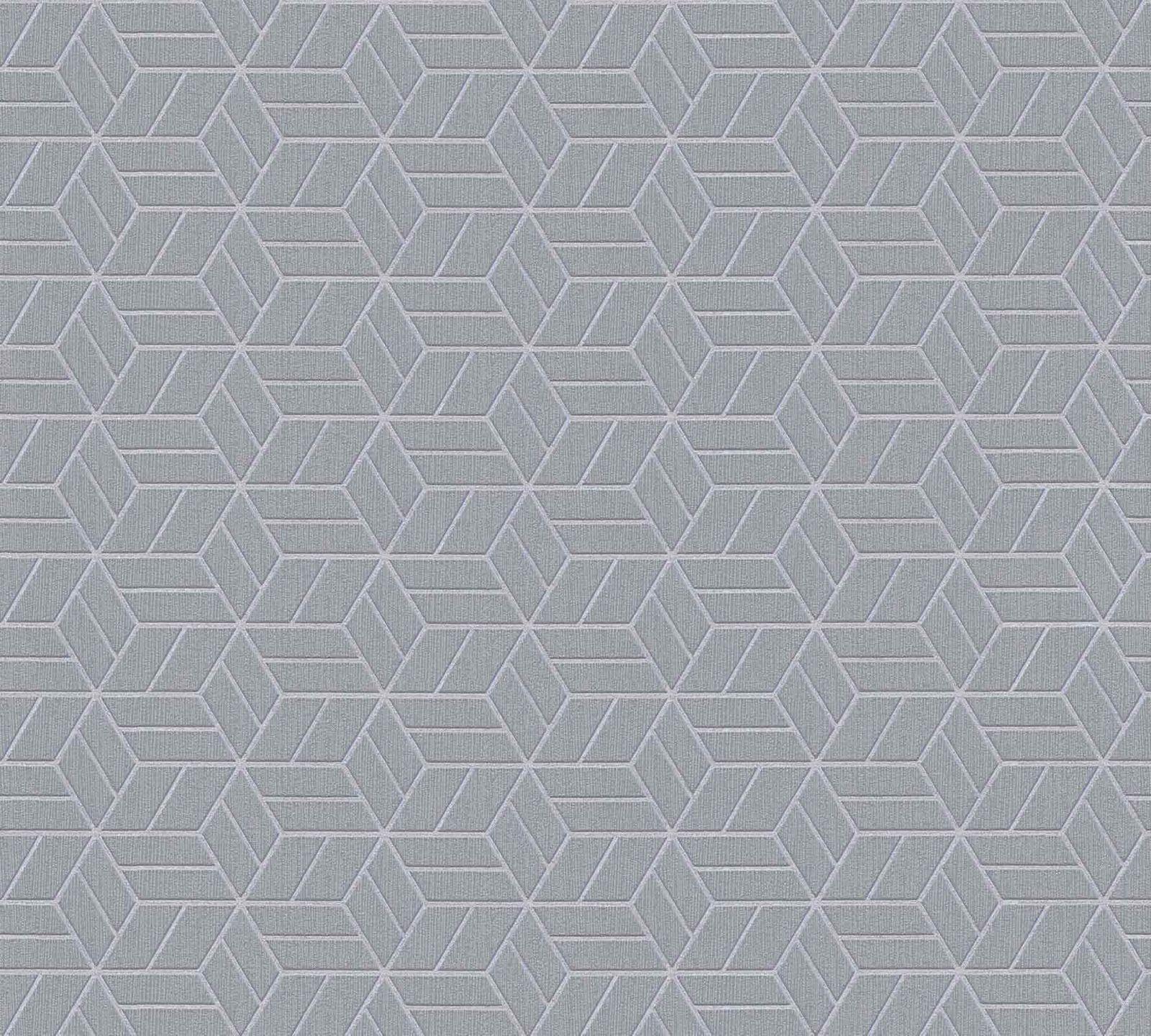 a600e4ece1b333 Vliestapete Grafik Würfel grau silber Glitzer 36920-4 001. ×. Muster  bestellen
