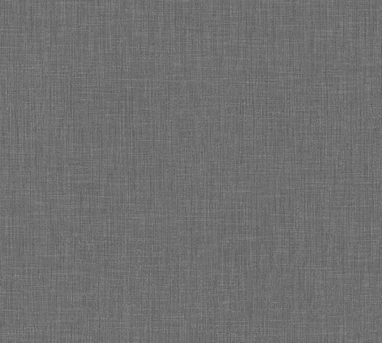 Vliestapete Uni Textil-Optik anthrazit 36922-3