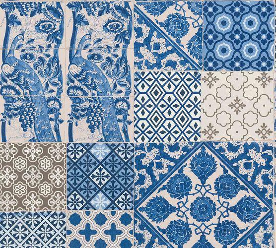 Vliestapete Portugiesische Fliesen blau beige 36923-1 online kaufen