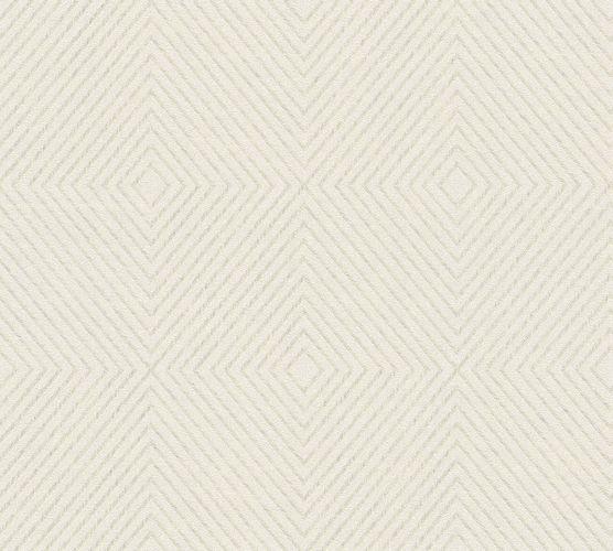 Vliestapete Grafik Raute weißgrau creme 36926-3 online kaufen