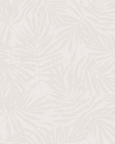 Non-Woven Wallpaper leaves cream white metallic 31315 online kaufen