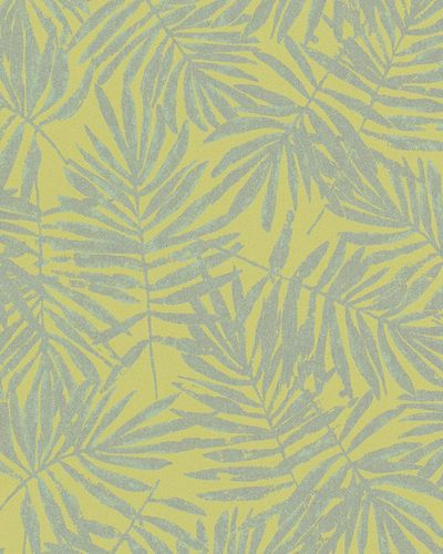 Non-Woven Wallpaper leaves green yellow metallic 31317 online kaufen