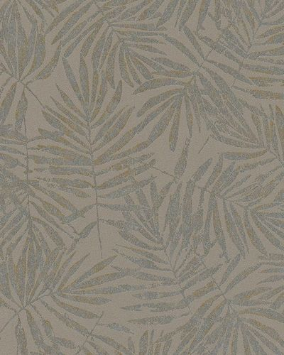 Non-Woven Wallpaper leaves brown silver metallic 31321 online kaufen