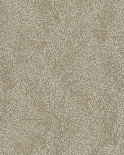 Non-Woven Wallpaper leave pattern brown grey 31330 online kaufen