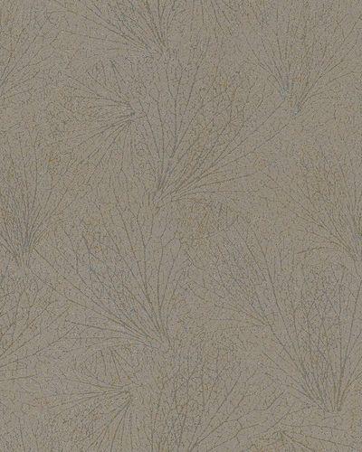 Non-Woven Wallpaper leave pattern brown metallic 31335