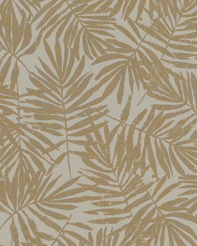 Non-Woven Wallpaper leaves brown grey gold metallic 31316 online kaufen
