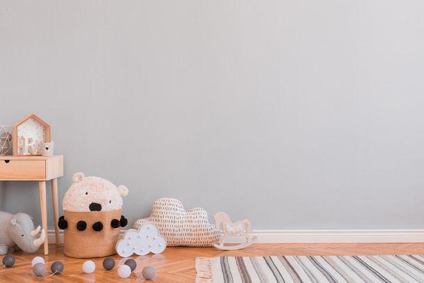 Kids Wallpaper Plain Plaster Look white 30334-1 online kaufen