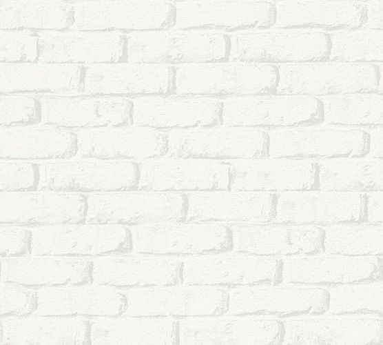 Kids Wallpaper Stone Wall white grey 34301-1