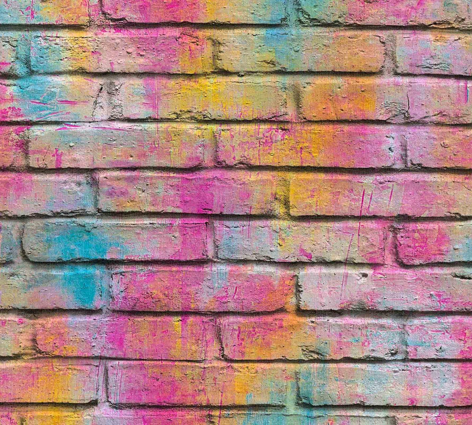 Kids Wallpaper Graffiti Stone Wall Colourful 36100 1