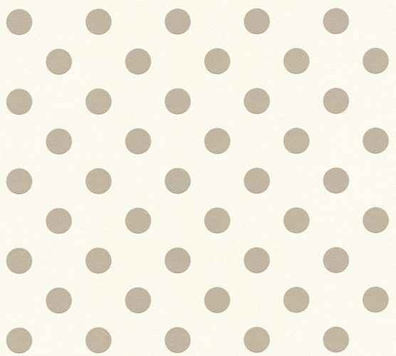Kids Wallpaper Dot Pattern white taupe 36934-1
