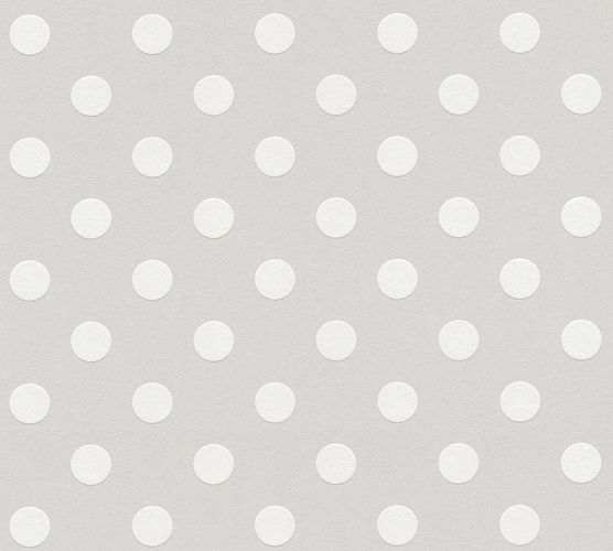Kids Wallpaper Dot Pattern grey white 36934-2