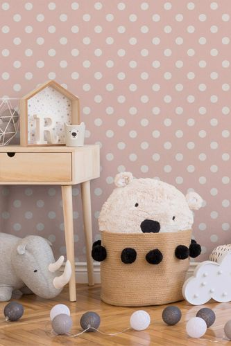 Kids Wallpaper Dot Pattern rose white 36934-3 online kaufen