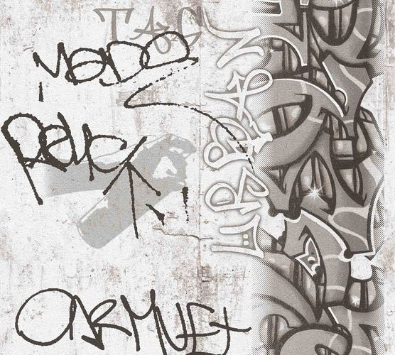Kids Wallpaper Graffiti Concrete grey white 36986-3 online kaufen