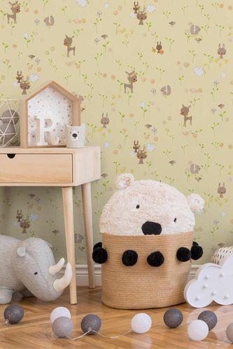 Kids Wallpaper Rabbit yellow colourful Metallic 36988-2 online kaufen