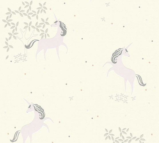 Kids Wallpaper Unicorns white lilac Glitter 36989-2 online kaufen
