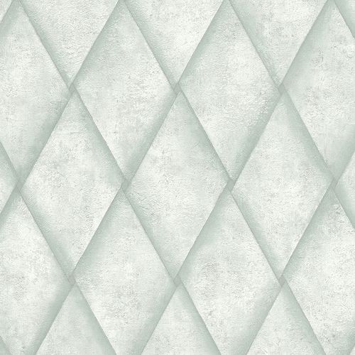 Non-woven Wallpaper Rhombus Concrete Look turquoise 83934