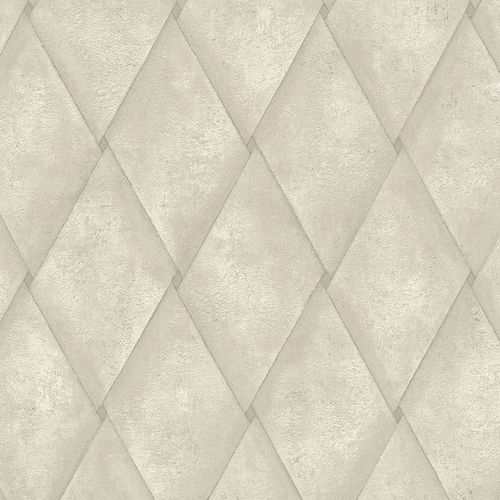 Non-woven Wallpaper Rhombus Concrete Look taupe 83936