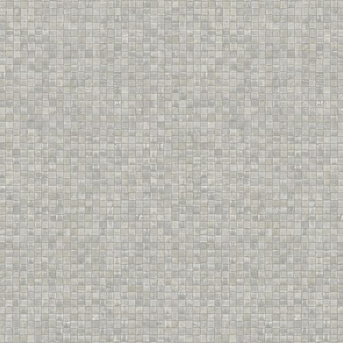 Non-woven Wallpaper Mosaic Look grey taupe 83940 online kaufen