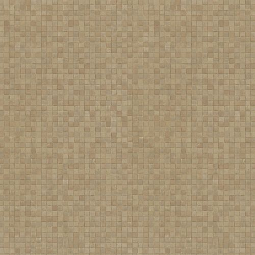 Non-woven Wallpaper Mosaic Look brown taupe 83941 online kaufen