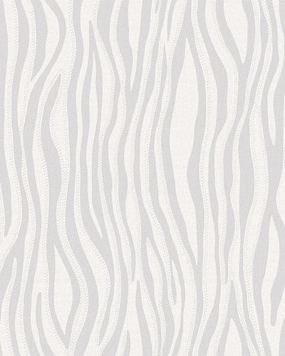 Non-Woven Wallpaper Zebra Look grey silver gloss 30403