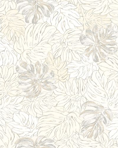 Non-Woven Wallpaper Leaves cream beige metallic 30431 online kaufen