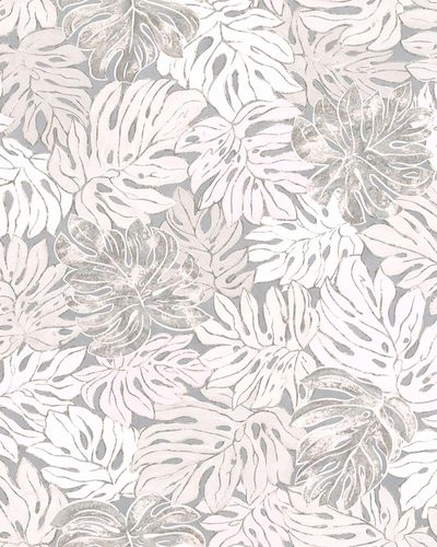 Non-Woven Wallpaper Leaves grey rose Casual 30433