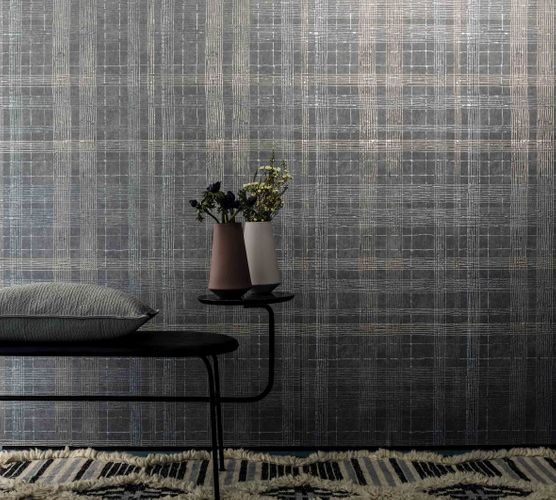 Non-Woven Wallpaper Check grey gold metallic 30438 online kaufen