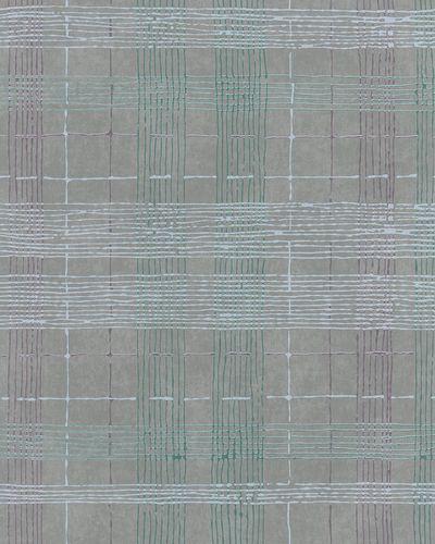 Vliestapete Karo Abstrakt grau grün metallisch 30439 online kaufen